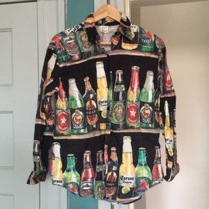 Thirsty girl party button up!
